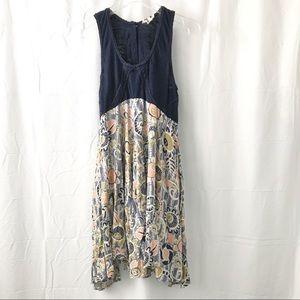 Anthropologie Lilka Tank Bell Skirt Dress Floral